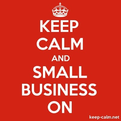 Keep calm and small business on link
